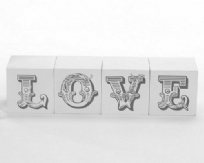 Love Word Block